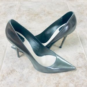Christian Dior Silver Patent Leather Shoes SM 0913